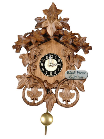 0138QP Quartz Cuckoo Sound Carved Miniature Clock