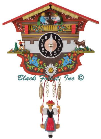 143KSQ Quartz Swinging Lady See Saw Miniature Clock
