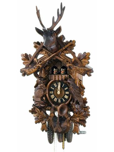 8634-6TNU Hones 8 Day Hunters Cuckoo Clock