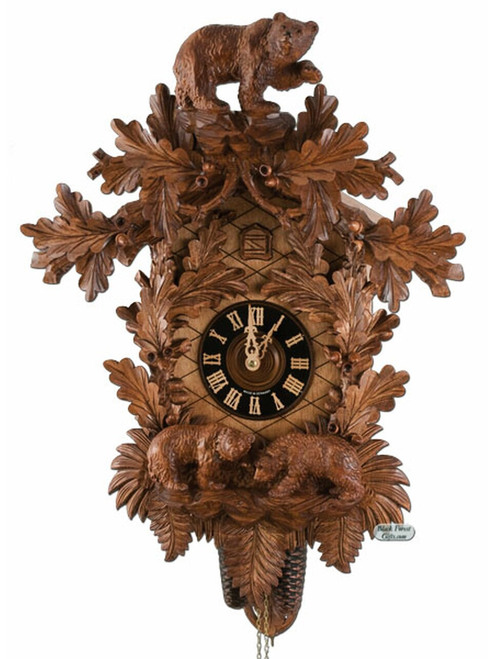 8708-6NU Hones 8 Day Carved Bears Cuckoo Clock