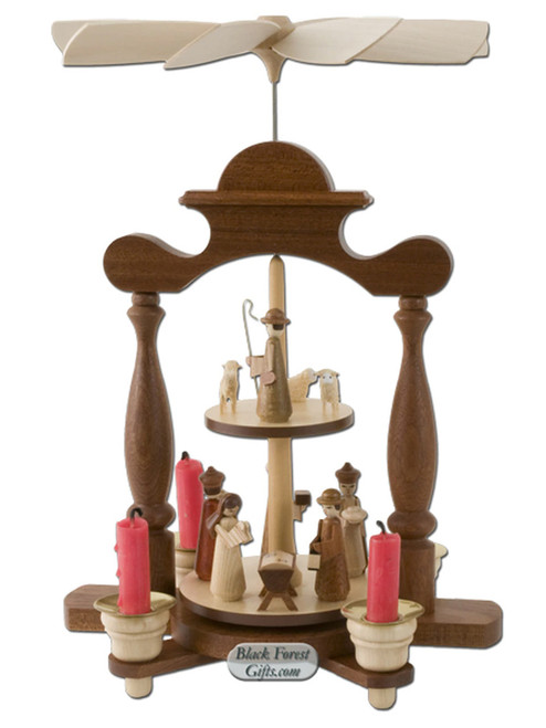 10316 Muller Two Tier Christmas Story Pyramid