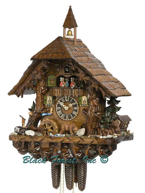 86760T Hones 8 Day Bear Family Cuckoo Clock