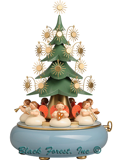 5336-41A Wendt and Kuhn Angels under tree Music Box