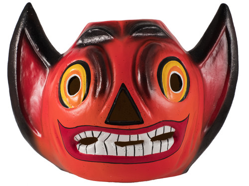 440 Devil Head Orange with Frost Glitter from Ino Schaller Paper Mache Candy Container
