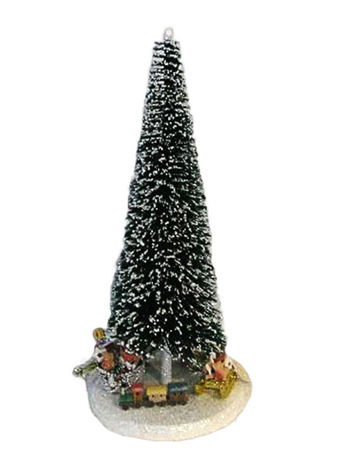 60D Large Kunststoffbaum Tree with Gifts from Ino Schaller Paper Mache Candy Container