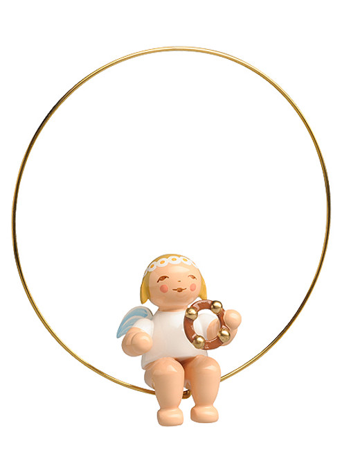 6308-57 Marguerite Angel in Ring Ornament with Tambourine from Wendt and Kuhn