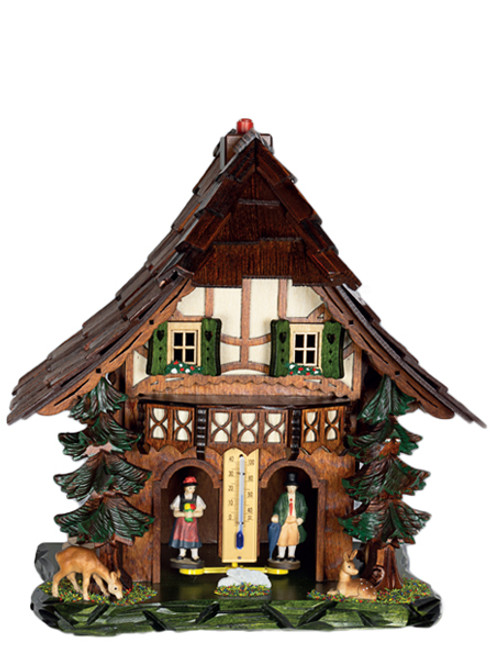 865 Large Curved Roof German Weather House