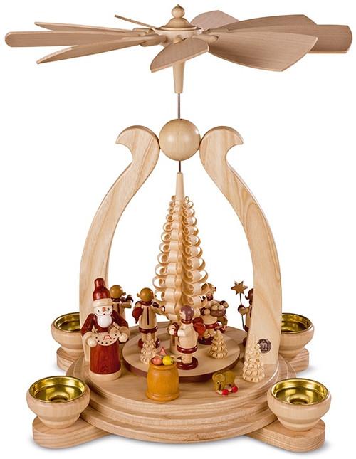 10348 Muller Santa Giving Presents Scene Pyramid