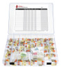Spanish EZ View Complete Monthly Pill Organizer with Removable Pill Cups and Spanish Medication Log