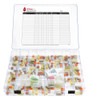 EZ View Complete Monthly Pill Organizer with Removable Pill Cups and Medication Log - Item PT35