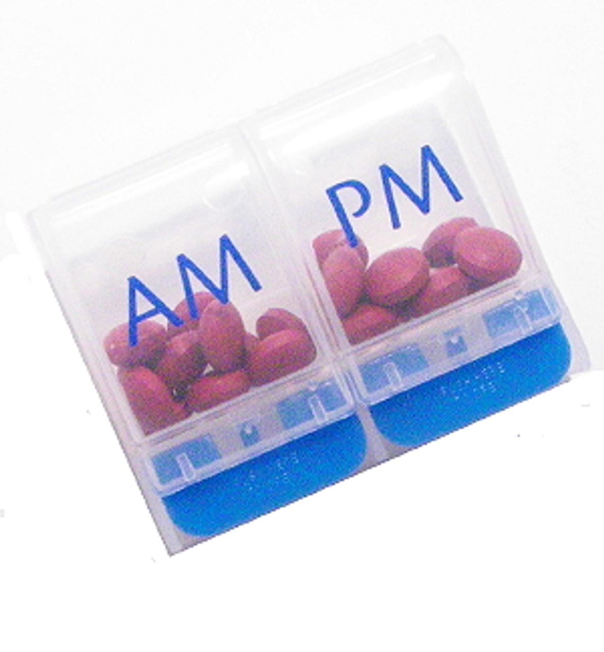 AM/PM Single Day Push Button Pill Organizer