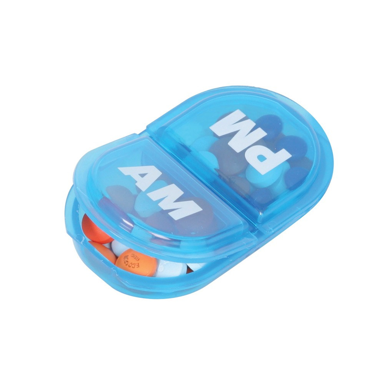 AM/PM Pocket Purse Pill Box