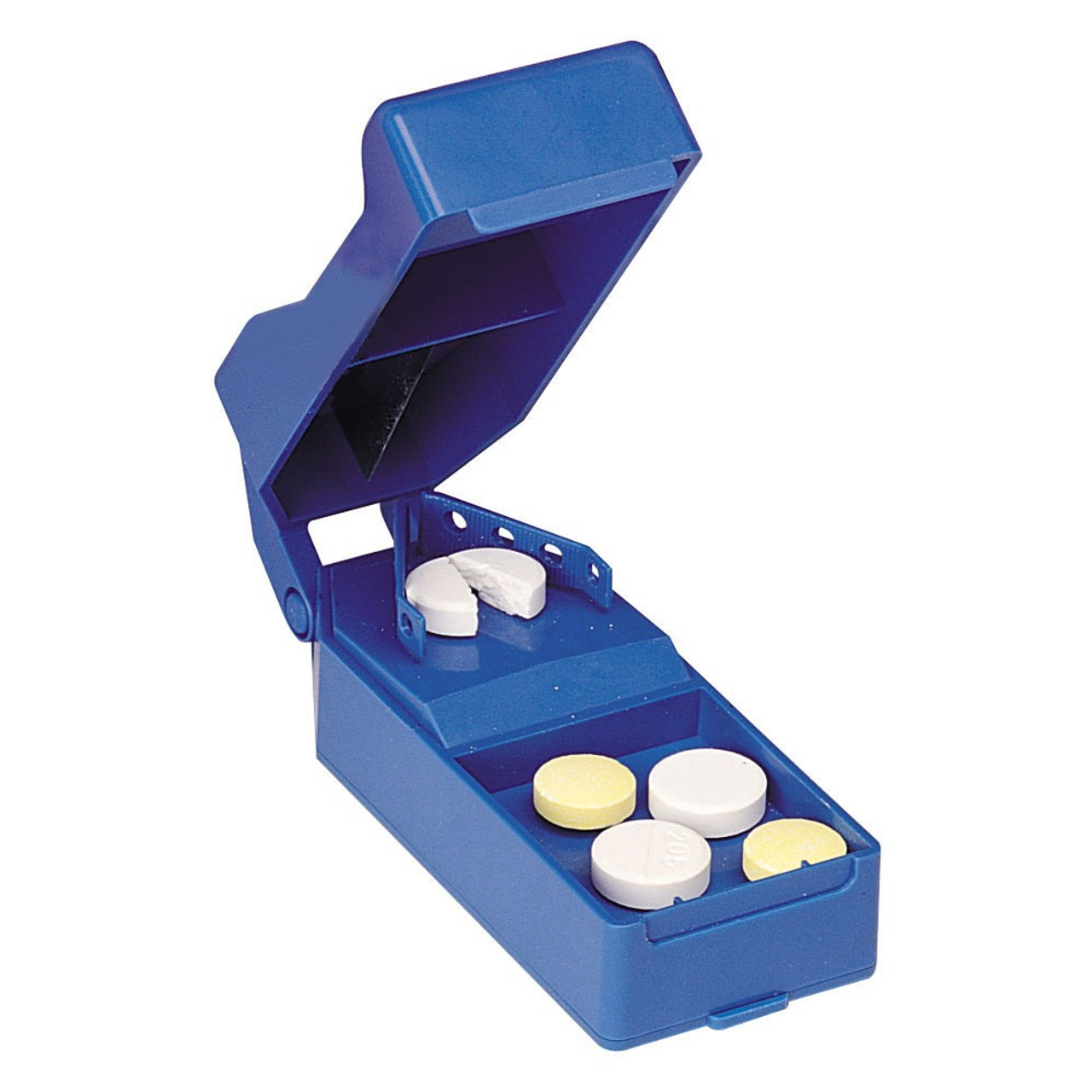 Has a compartment to store pills until needed
