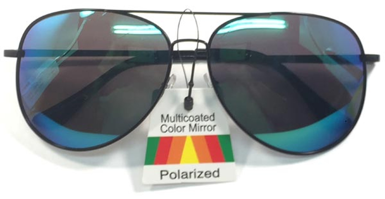 Sunglasses Aviator Polarized RV Lens and Spring Hinges Multi Color
