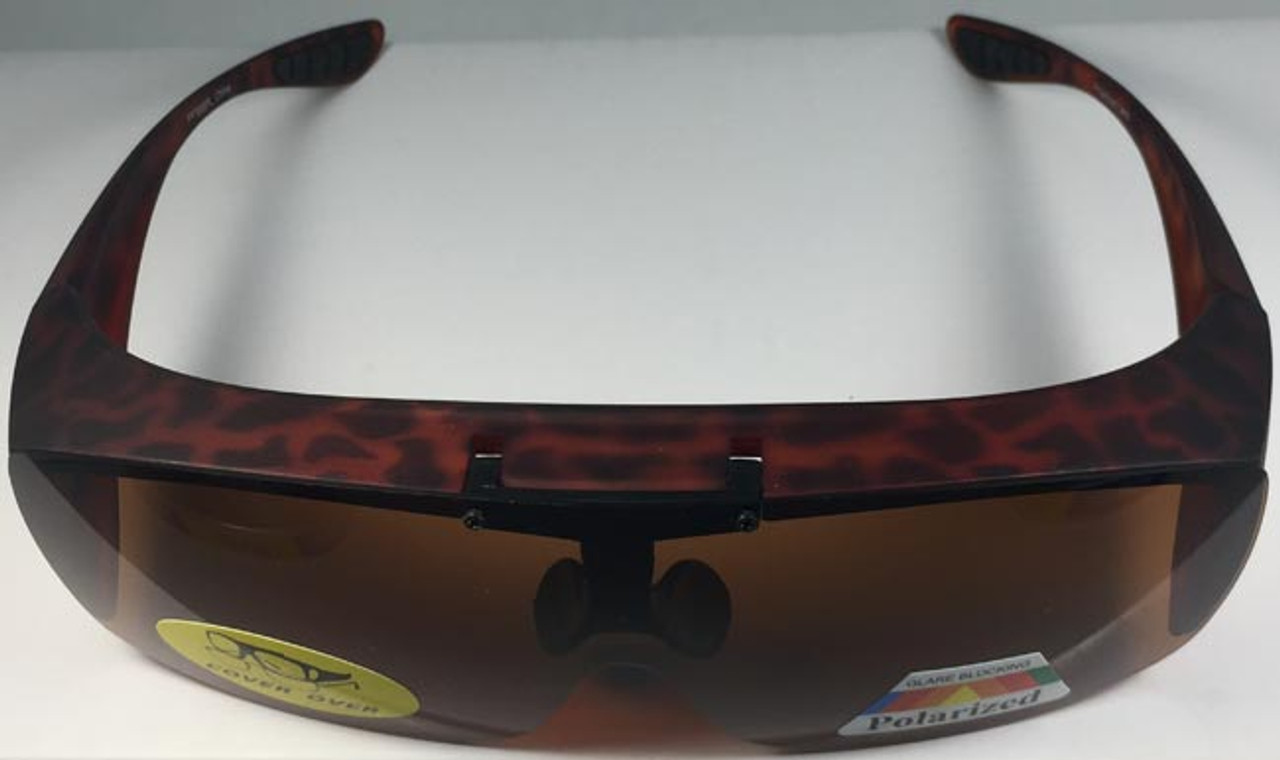 Sunglasses Flip Up Cover Over Polarized Lenses Dark