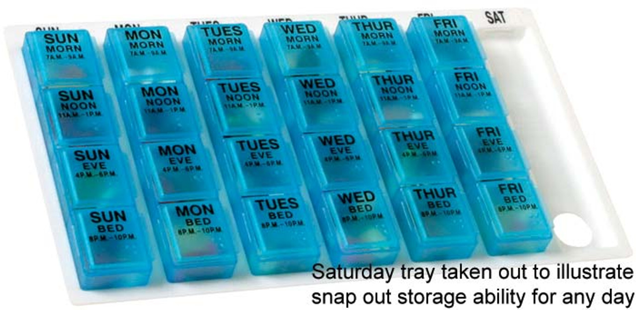 7 day 4 time a day pill organizers
