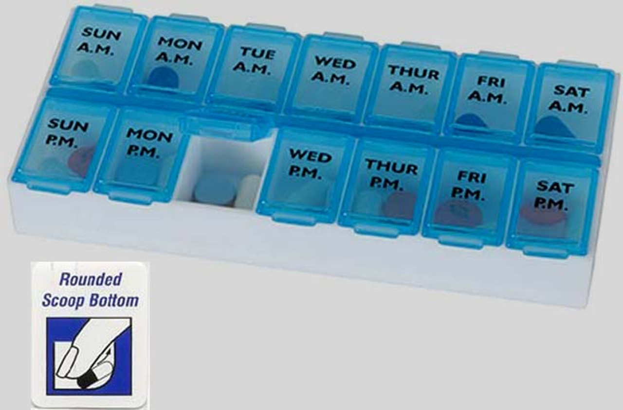 7 Day weekly twice a day pill box