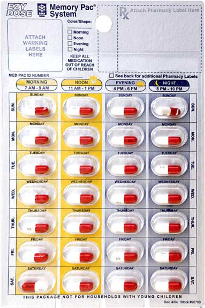 A blister refill with pills inside
