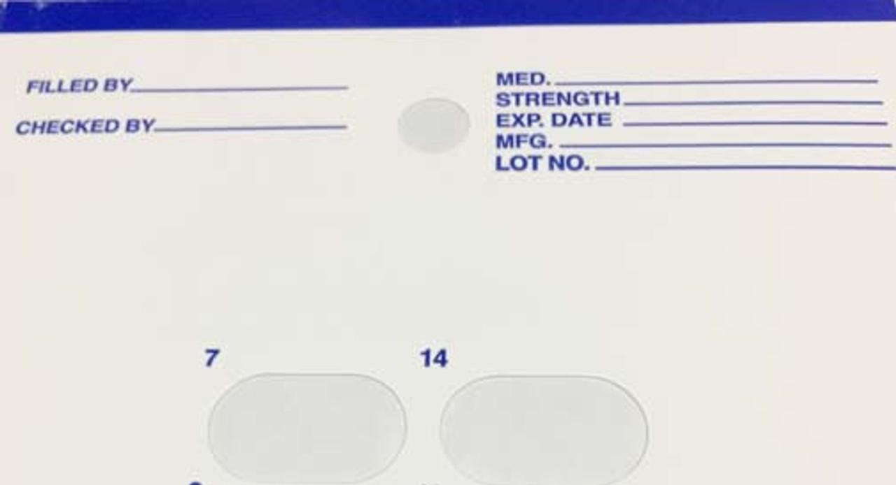 Refill Cards for 14 Day Blister Packs