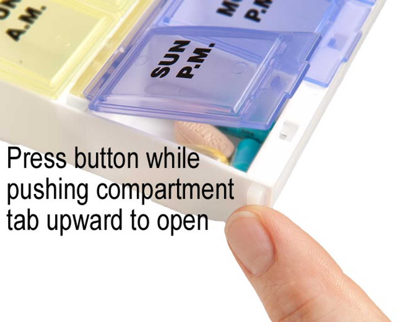 AM PM Twice a Day Pill Organizer with Adult Lock