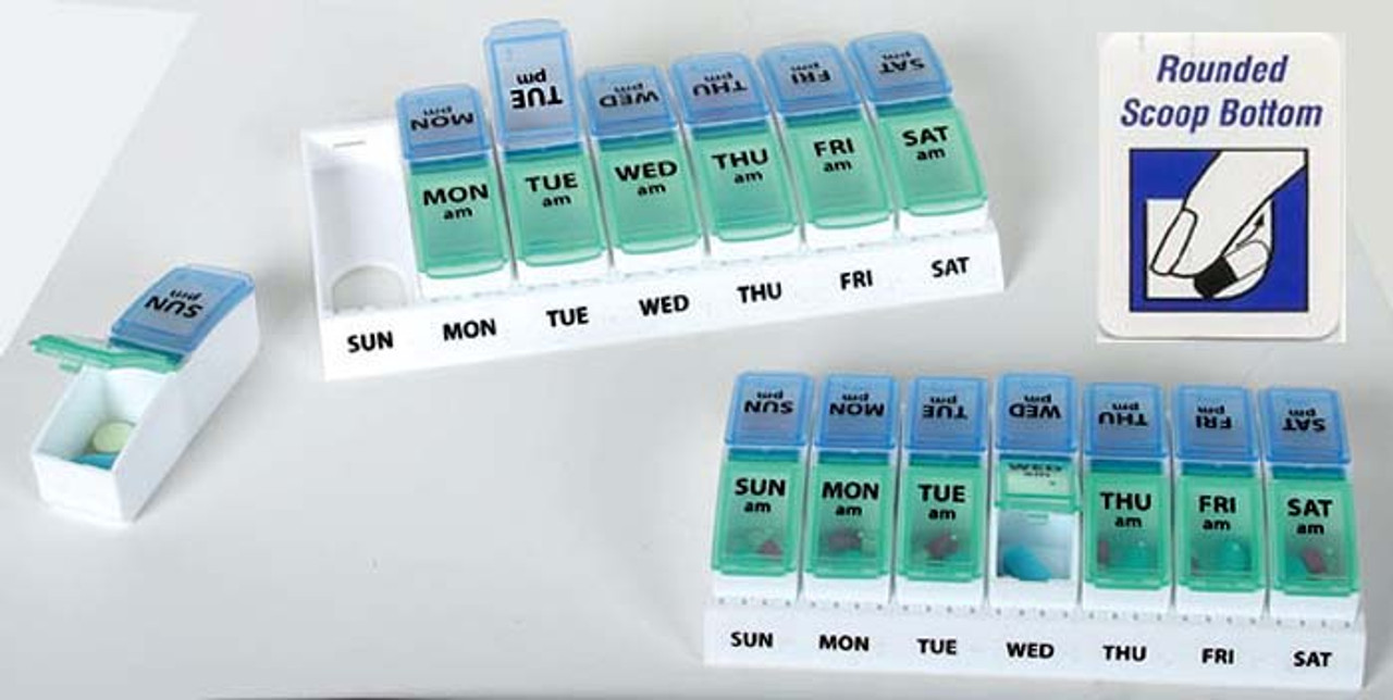 AM PM Twice a Day Removable Pill Organizer - Item 67054