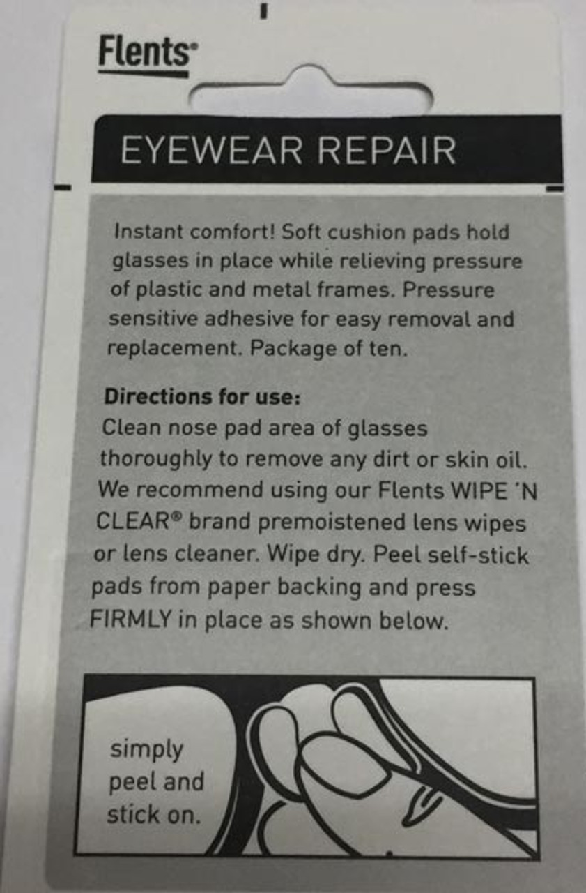 Nose pads make glasses more comfortable and stop slipping.