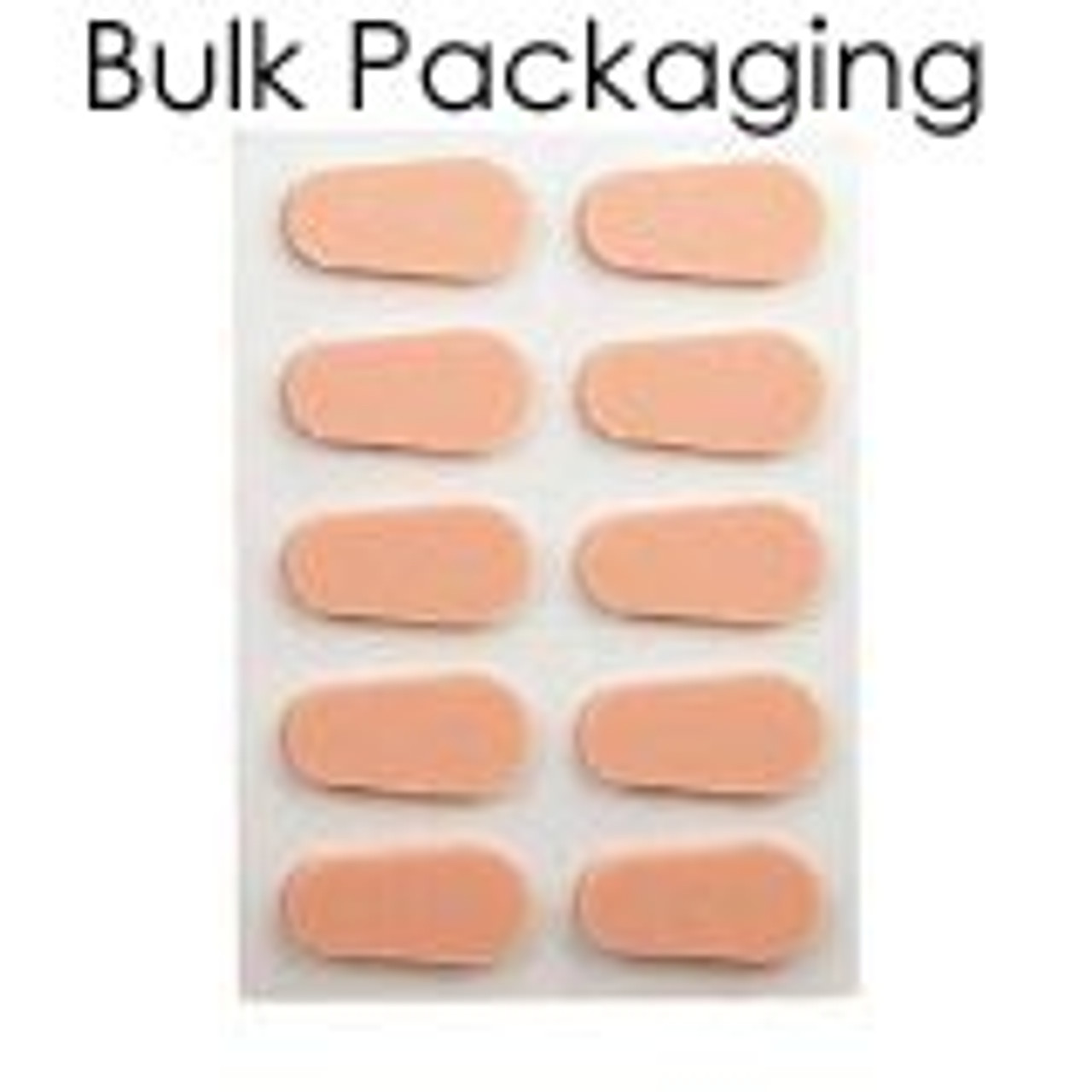 Soft Peel N Stick Nose pads Regular, 5 pair, Peach Colored