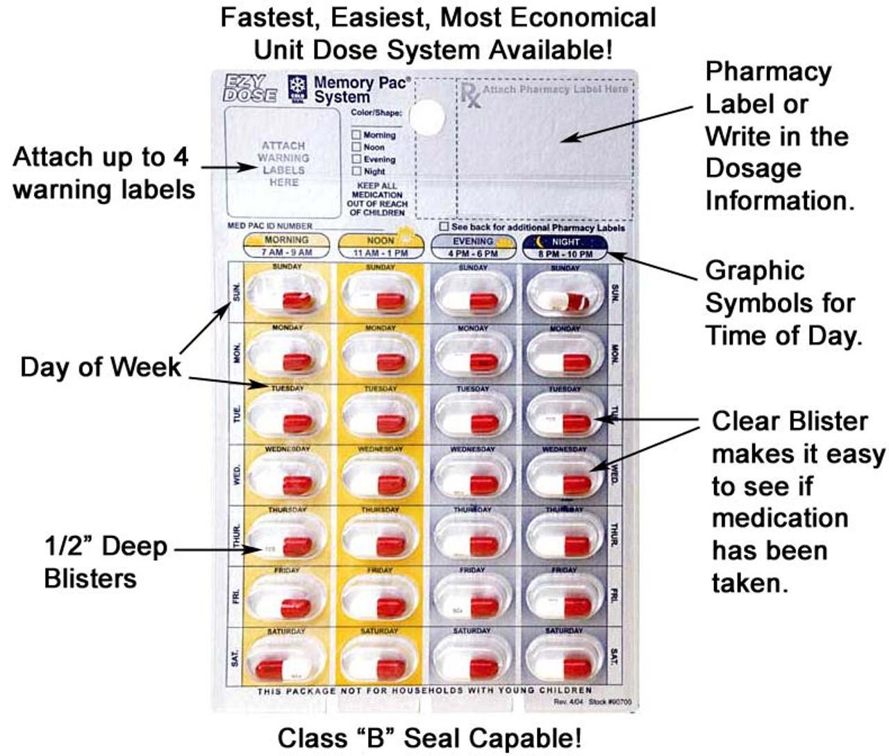 Make your own custom made pill organizer blister packs at home!