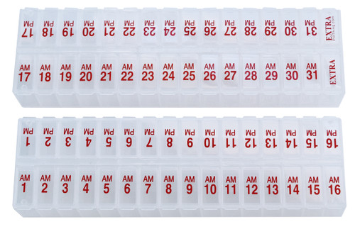 Twice-a-Day Monthly Pill Planner Set