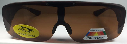 Polarized glasses available in brown (shown) or black