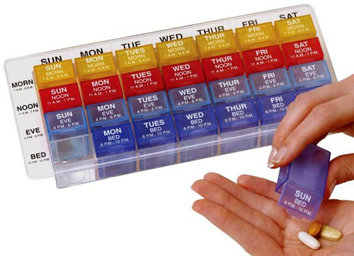 Very popular pill organizer.
