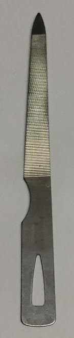 The nail file will also come in a plastic sheath.