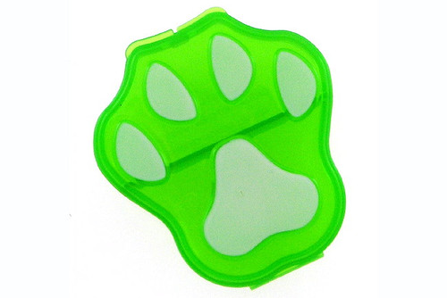 Paw print pet pill case.