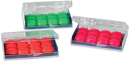 You may choose among 3 different colors and come in a plastic case.
