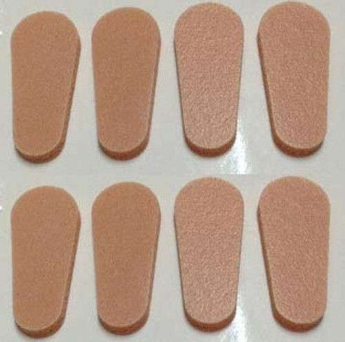 Soft Peel N Stick Long Temple Nose Pads Regular, 4 pair, Peach Colored