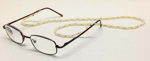 Faux Pearl Beaded Eyeglass Reading Glasses Eyewear Chain Holder Cord