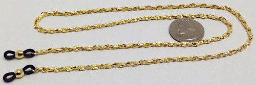 Gold Plated Eyeglass Reading Glasses Eyewear Chain