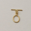 Brass, 13x15mm Oval Toggle Clasp