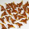 Block Amber Hummingbird Fetish Bead   $1.50 Wholesale