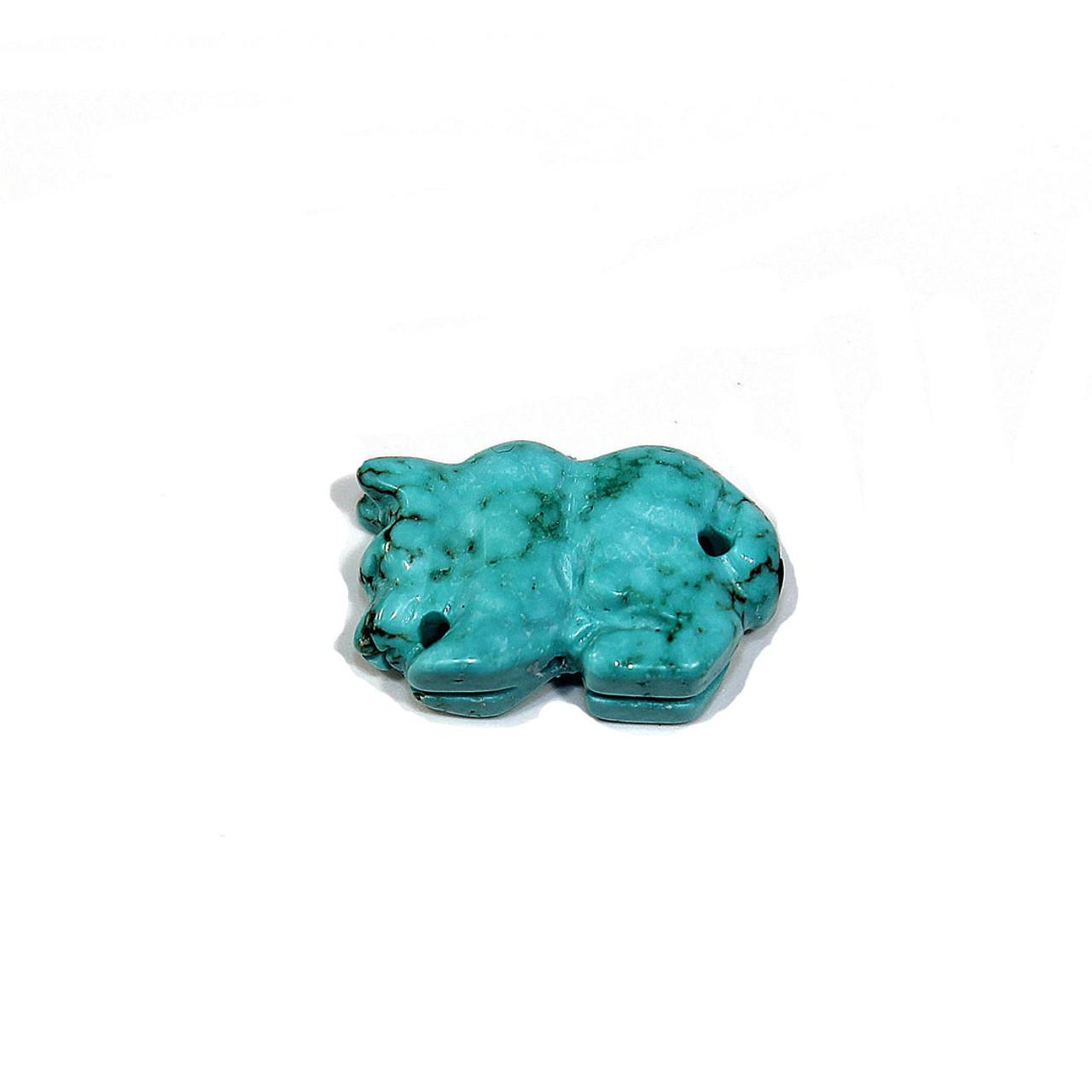 Turquoise Magnesite Mountain Lion Fetish Bead