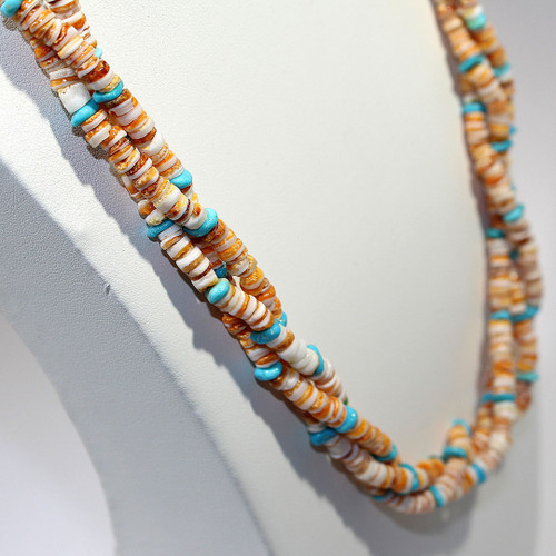 Matinee Torsade Necklace | Spiny Oyster Shell, Sleeping Beauty (AZ) and Copper |