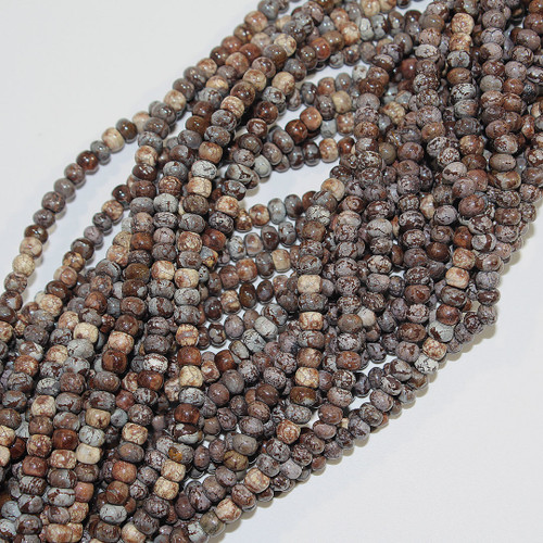 Brown Agate Rondelle 4mm