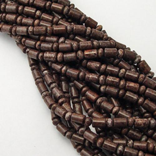 Brown Agate Rondelle/Barrel, 6mm