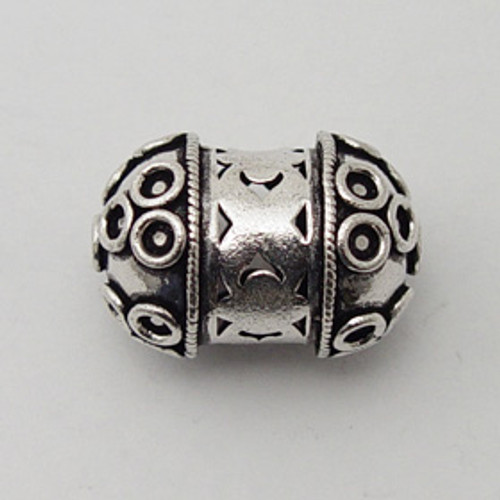 India Silver, 30x20mm Decorative Focal Bead
