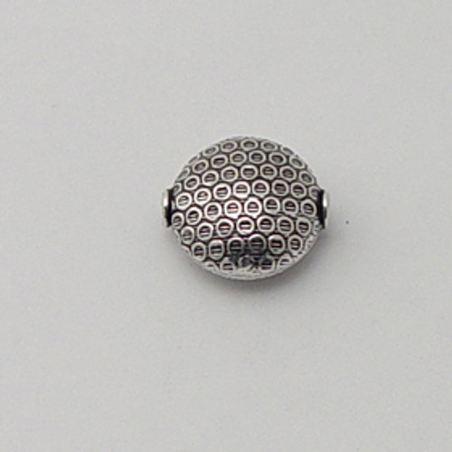 India Silver, 18mm Embossed Coin