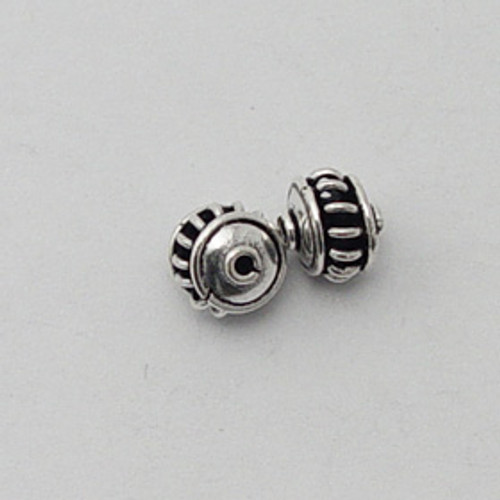 India Silver, 7mm Open Coil Bead