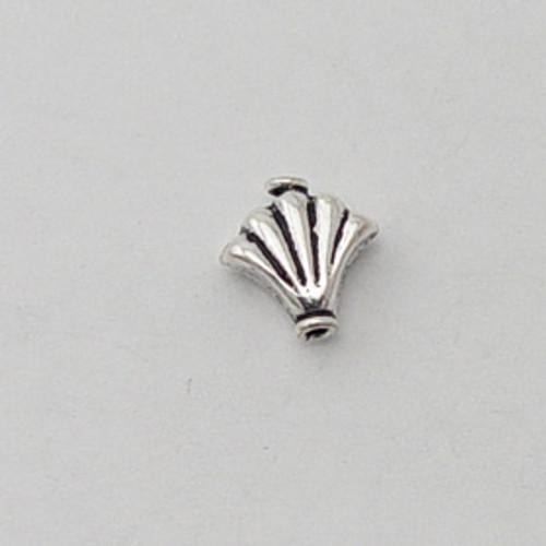 India Silver, 10mm Puffed Fan