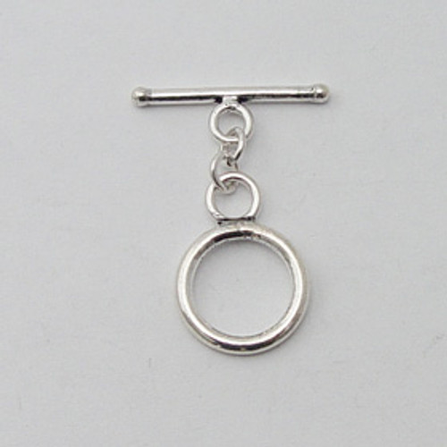 India Silver, 15mm Toggle Clasp