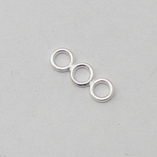 India Silver, 5x15mm 3-Hole Spacer