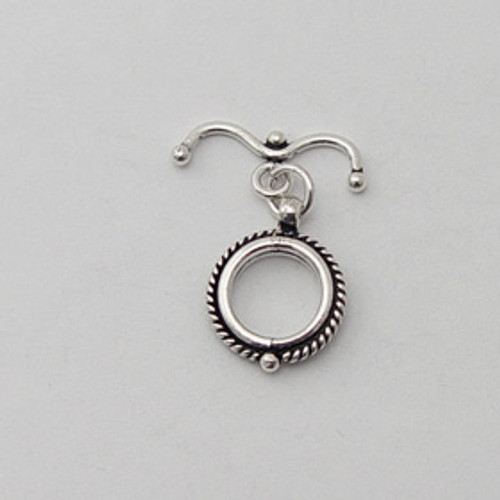 India Silver, 13mm Toggle w/Anchor Bar